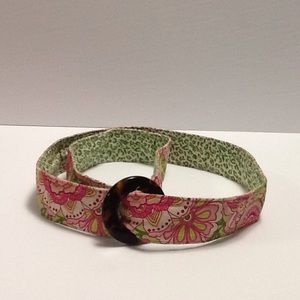 Vera Bradley Tortoiseshell Buckle Cloth belt